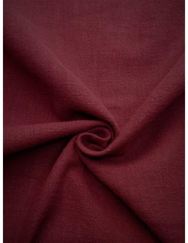 Tissu aspect lin lavé - Bordeaux