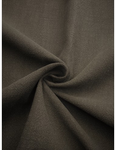 Tissu aspect lin lavé - Gris