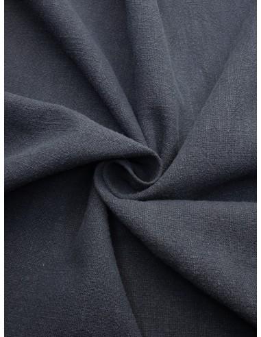 Tissu aspect lin lavé - Bleu gris