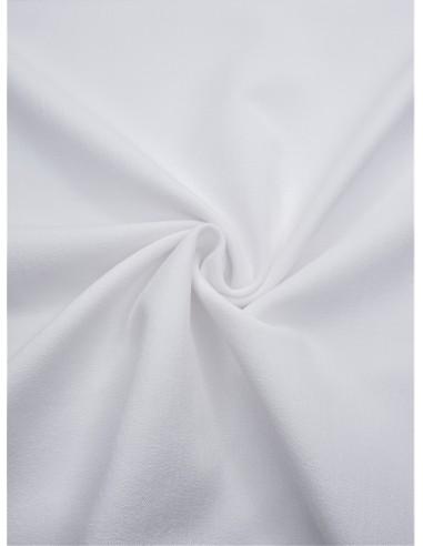 Tissu gabardine extensible - Blanc