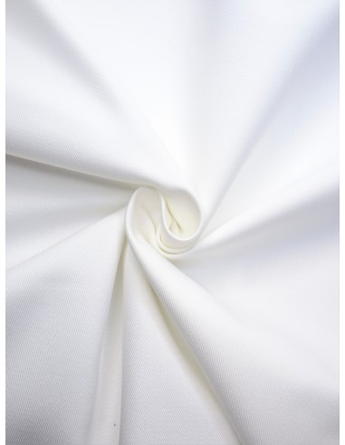 Tissu Gabardine coton - Blanc