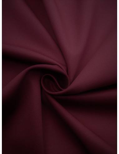 Tissu Gabardine coton - Bordeaux
