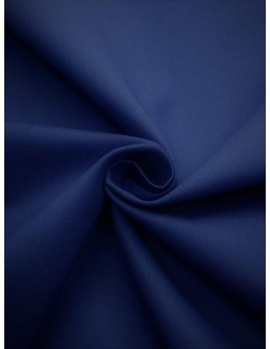 Tissu Gabardine coton - Bleu dur