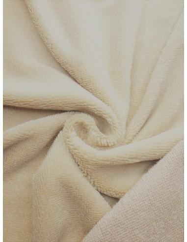 Tissu éponge bambou - Beige clair