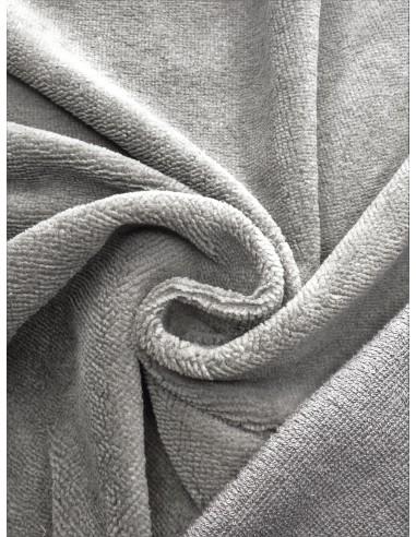 Tissu éponge bambou - Gris