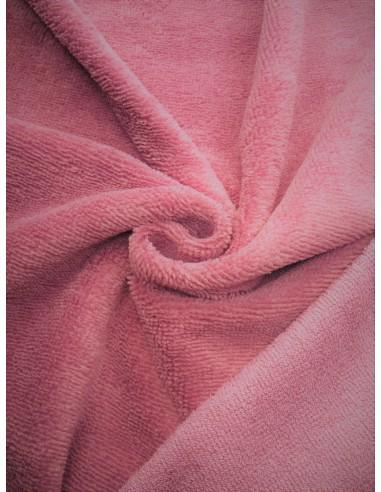 Tissu éponge bambou - Vieux rose