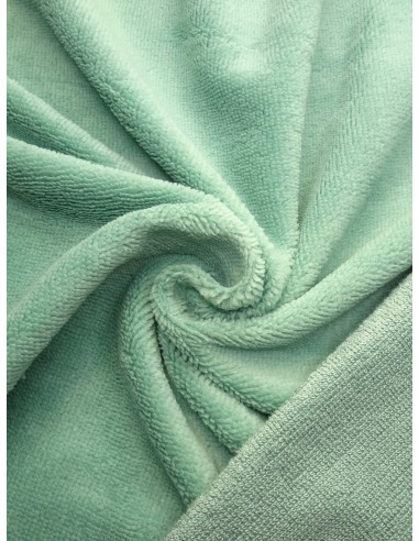 Tissu éponge bambou - Vert d'eau