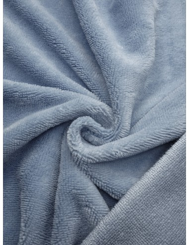 Tissu éponge bambou - Bleu gris