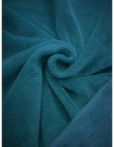 Tissu éponge bambou - Bleu canard