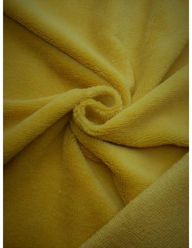 Tissu éponge bambou - Moutarde