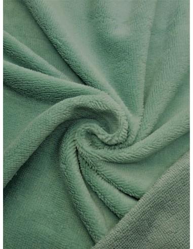 Tissu éponge bambou - Vert amande