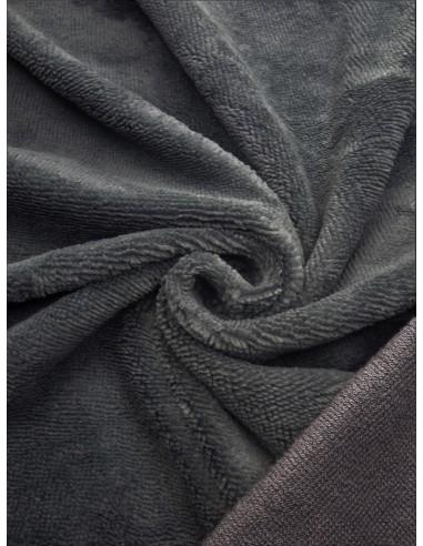 Tissu éponge bambou - Gris foncé