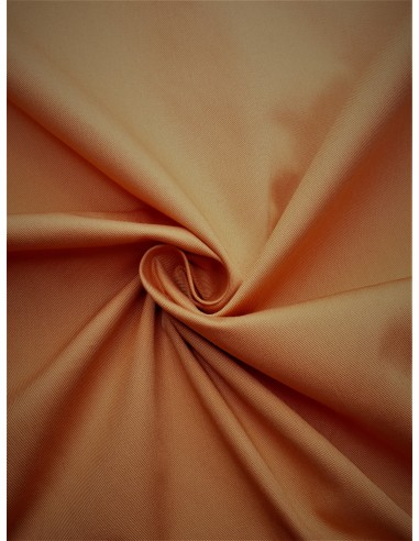 Tissu gabardine polyester/coton - Pêche