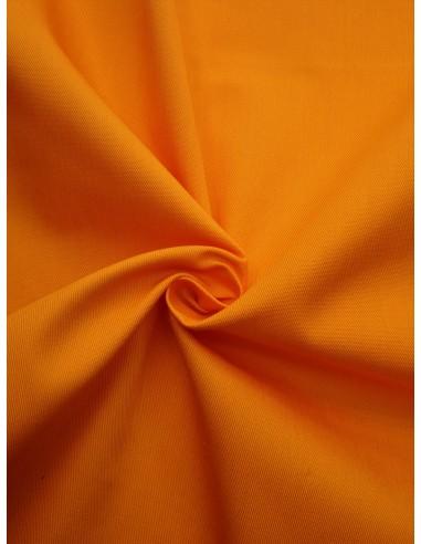 Tissu gabardine polyester/coton - Orange