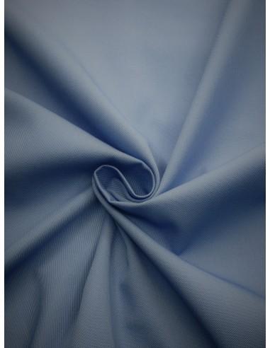 Tissu gabardine polyester/coton - Bleu