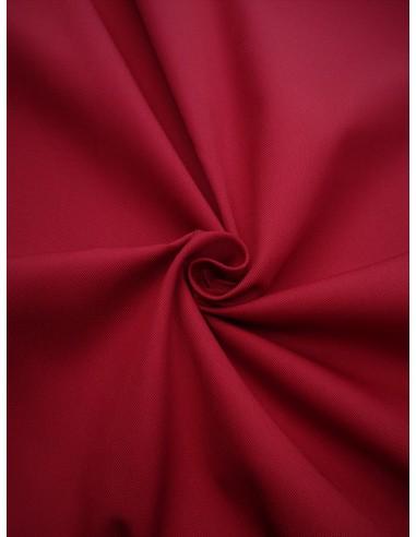 Tissu gabardine polyester/coton - Rouge