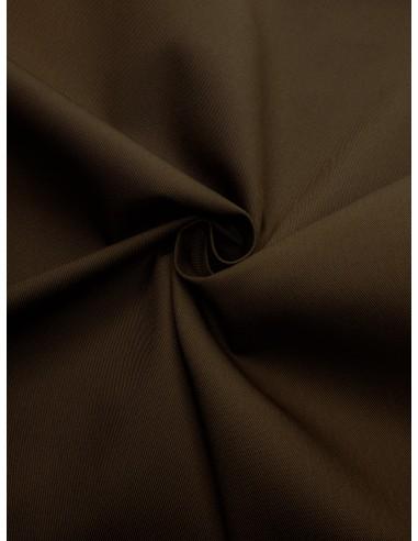 Tissu gabardine polyester/coton - Marron