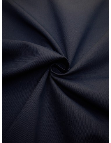 Tissu gabardine polyester/coton - Marine