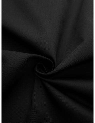 Tissu gabardine polyester/coton - Noir