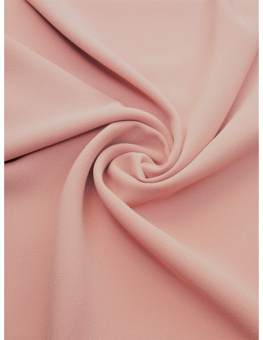 Tissu crêpe polyester - Rose poudré
