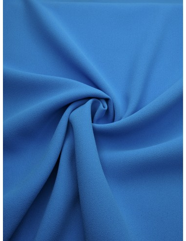 Tissu crêpe polyester - Bleu