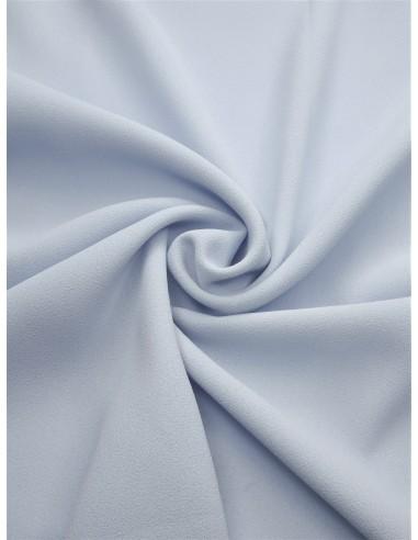 Tissu crêpe polyester - Bleu ciel