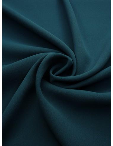 Tissu crêpe polyester - Bleu canard