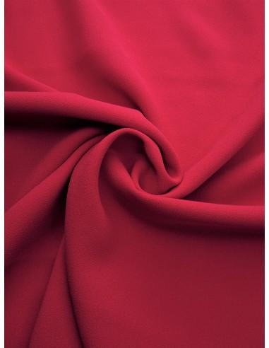 Tissu crêpe polyester - Framboise