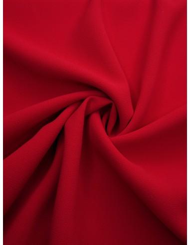 Tissu crêpe polyester - Rouge vif