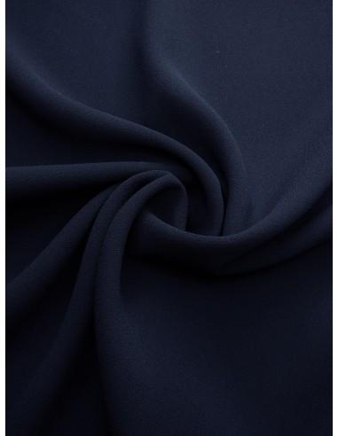 Tissu crêpe polyester - Marine