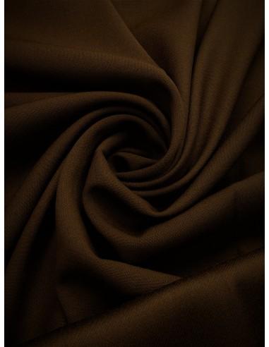 Tissu laine envers satin - Marron