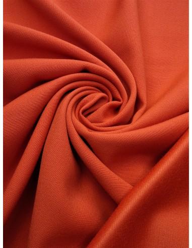 Tissu laine envers satin - Orangé