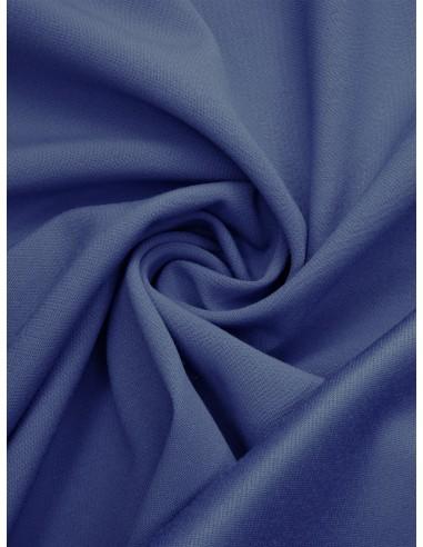 Tissu laine envers satin - Bleu