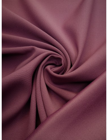 Tissu laine envers satin - Vieux rose