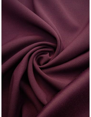 Tissu laine envers satin - Prune