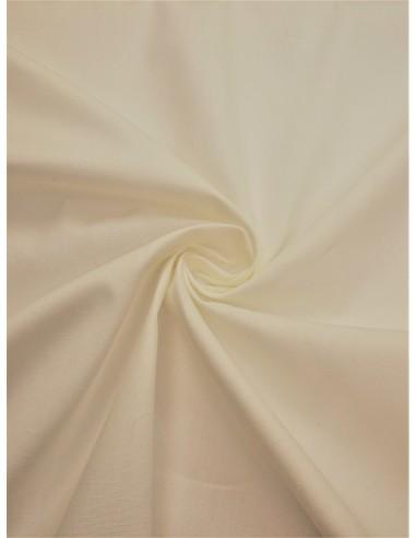 Tissu popeline - Blanc cassé