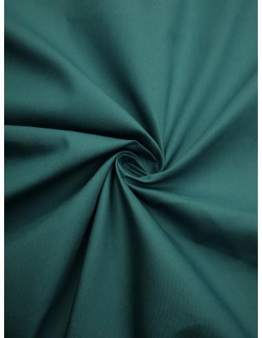 Tissu popeline - Bleu canard
