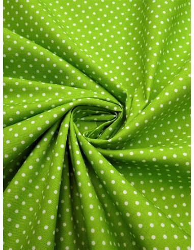 Tissu coton imprimé motif petit pois...