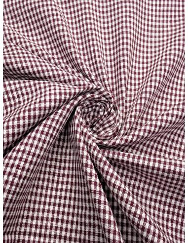 Tissu coton imprimé motif vichy...