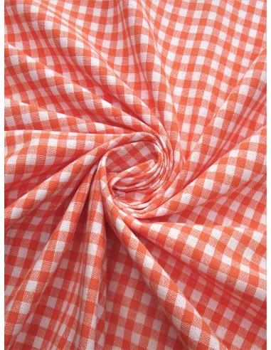 Tissu coton imprimé motif vichy grand...