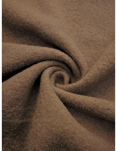 Tissu laine bouillie - Beige