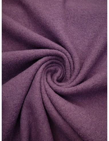Tissu laine bouillie - Vieux rose