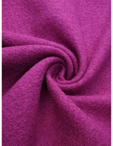 Tissu laine bouillie - Fuchsia