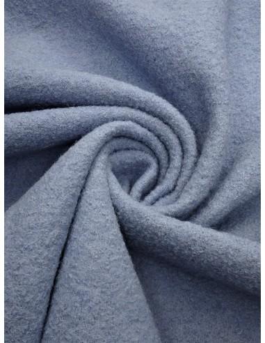 Tissu laine bouillie - Bleu gris