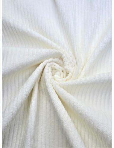 Tissu velours côtelé - Blanc