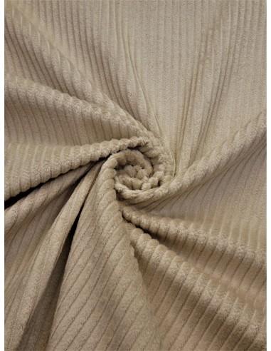 Tissu velours côtelé - Beige clair