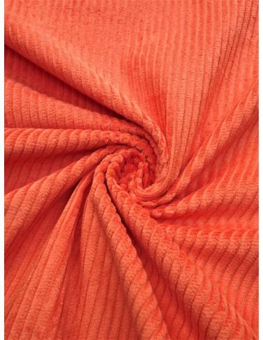 Tissu velours côtelé - Orange