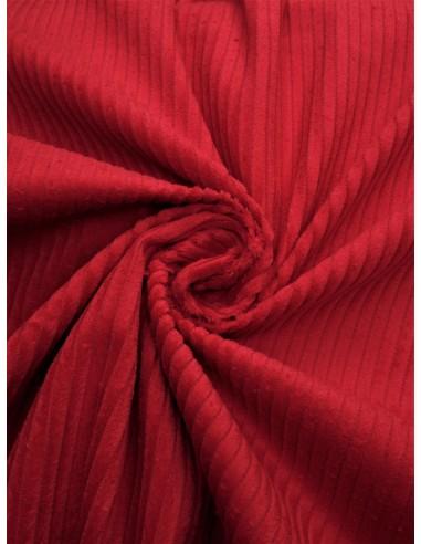 Tissu velours côtelé - Rouge
