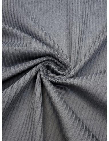 Tissu velours côtelé - Gris
