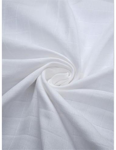 Tissu lange bio - Blanc